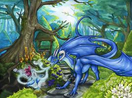 Magical garden by Natoli