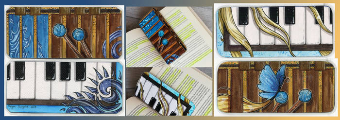 Marimba/piano matching bookmarks by Natoli