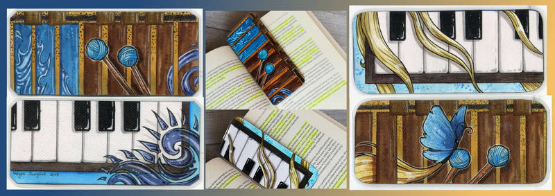 Marimba/piano matching bookmarks