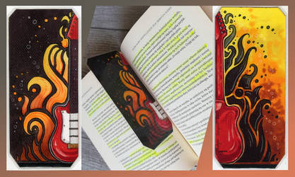 FieryGuitar Bookmark by Natoli