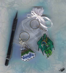 Mountain-Dragon Keychains