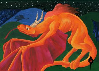 Orange dragon by Natoli