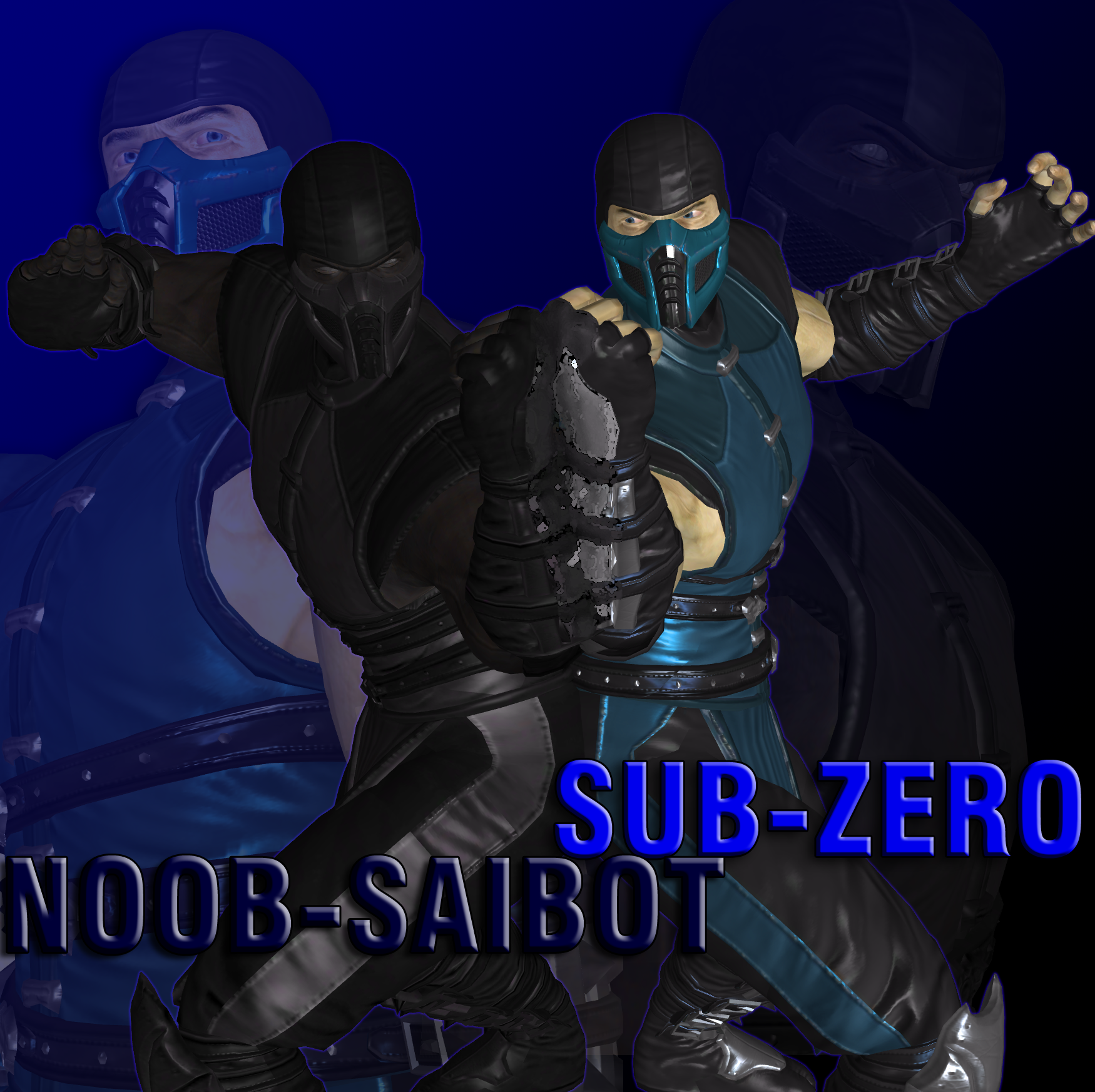 Mortal Kombat : Sub-Zero and Noob-Saibot   by DOOM4Rus on