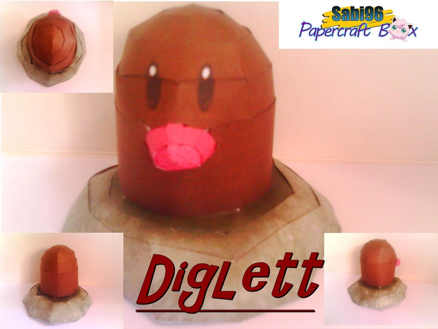 Diglett papercraft by DEEPPOSEIDON