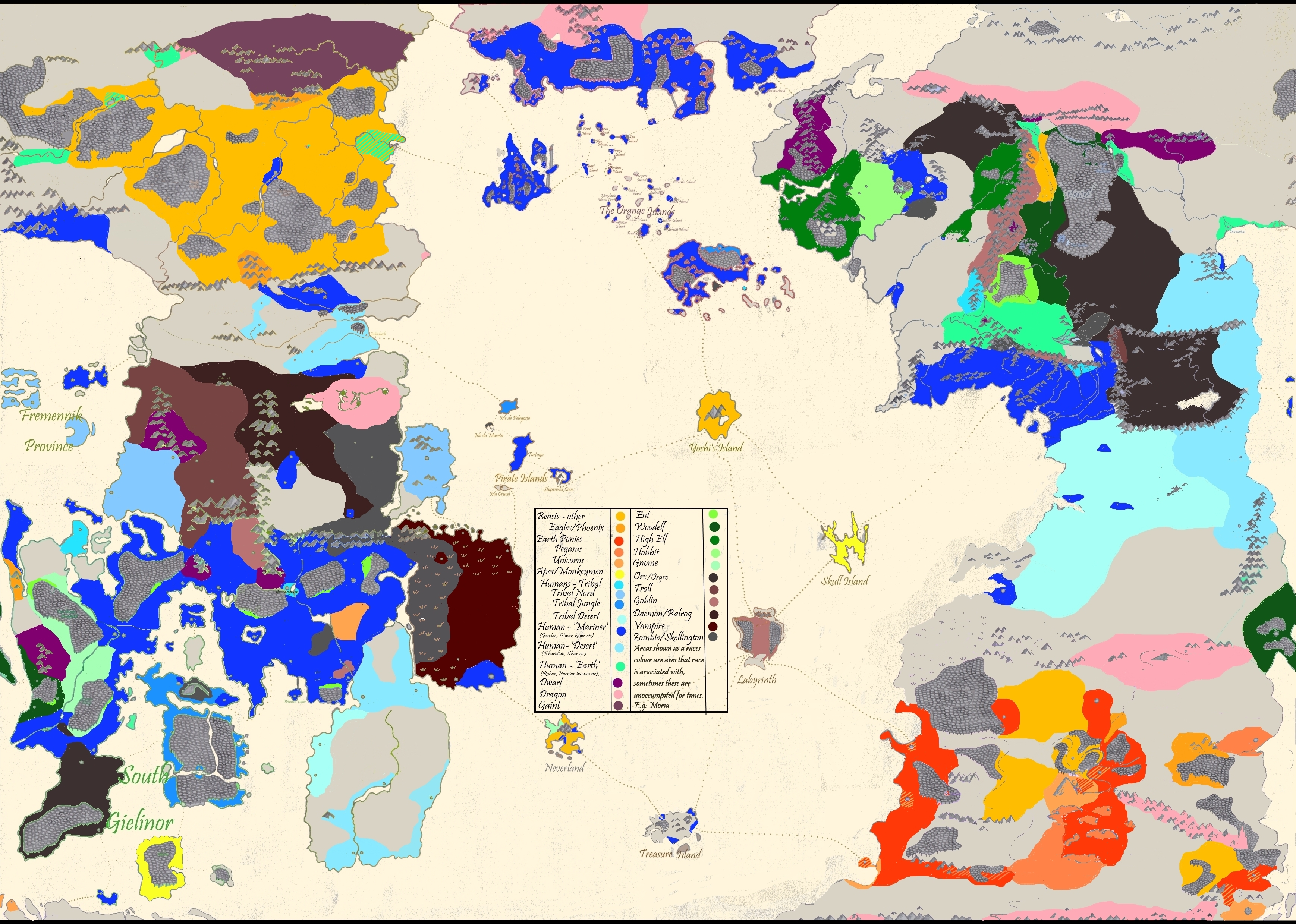 Fantasy Risk Demographic Map By JMThought On DeviantArt - Demographic map