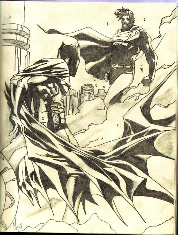 batman vs superman by noodleboy88