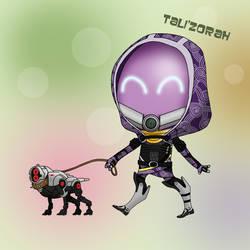 Tali'Zorah Chibi by koogee4