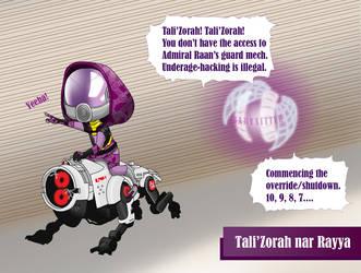 Tot Effect: Tali'Zorah nar Rayya by koogee4