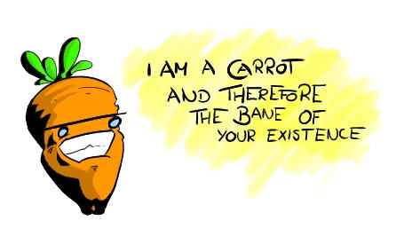 The carrot.
