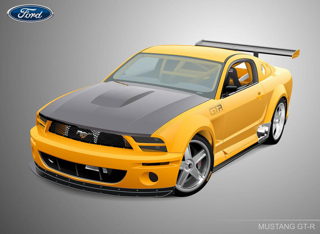 Astonishing mustang vector pictures