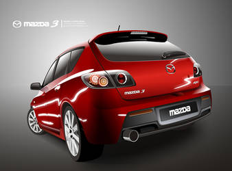 Mazda 3 Vector by spammerz69