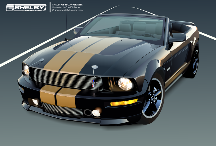 shelby gt h convertible vector by spammerz69 on deviantart. Black Bedroom Furniture Sets. Home Design Ideas