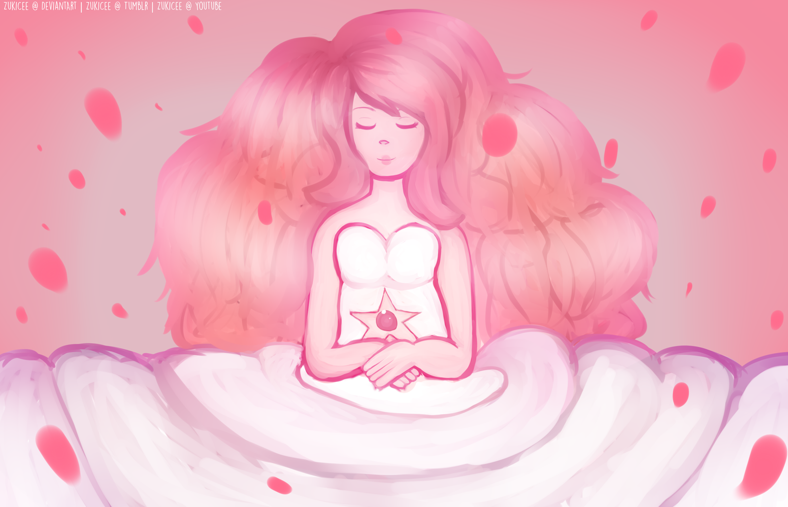 Fan art steven universe rose quartz by zukicee on - Rose quartz steven universe wallpaper ...