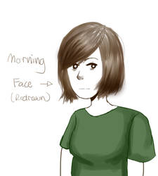 10.23.2016 Morning Face REDRAW by ZukiCee