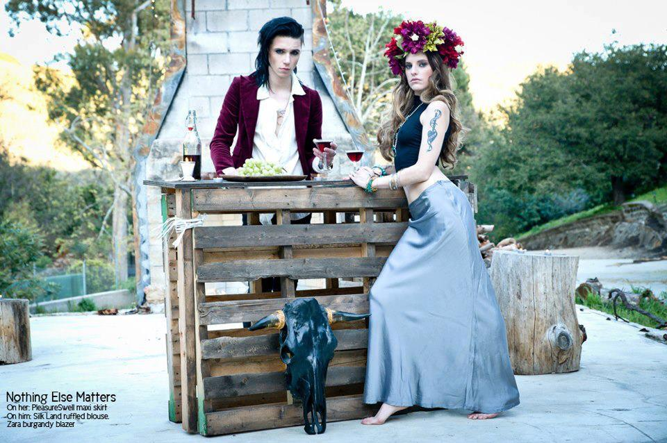 andy biersack and juliet simms photoshoot 2013 by