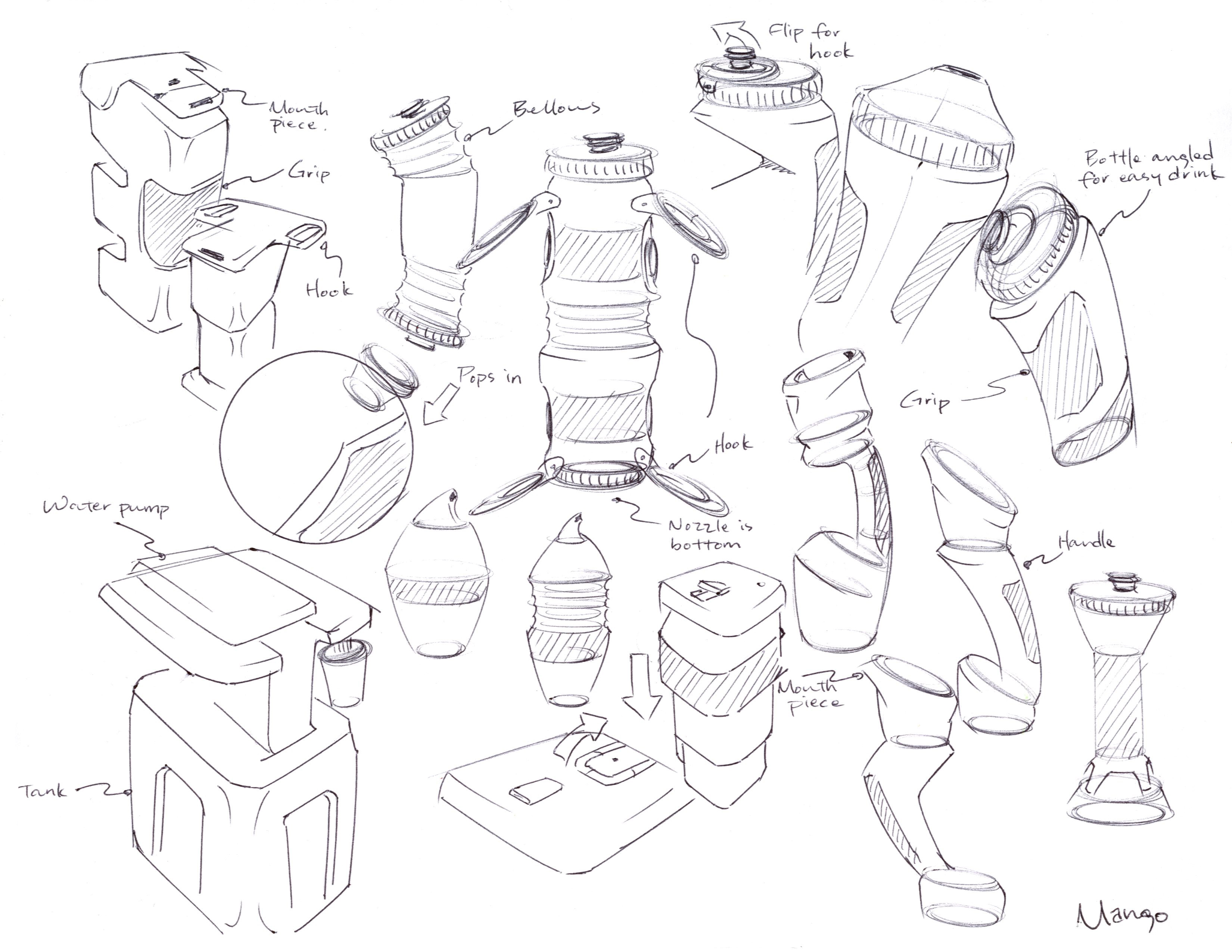 Product Design Line Art : Water bottle ideation sketches by c maeng on deviantart