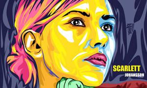 Scarlett Johansson vexel pop art
