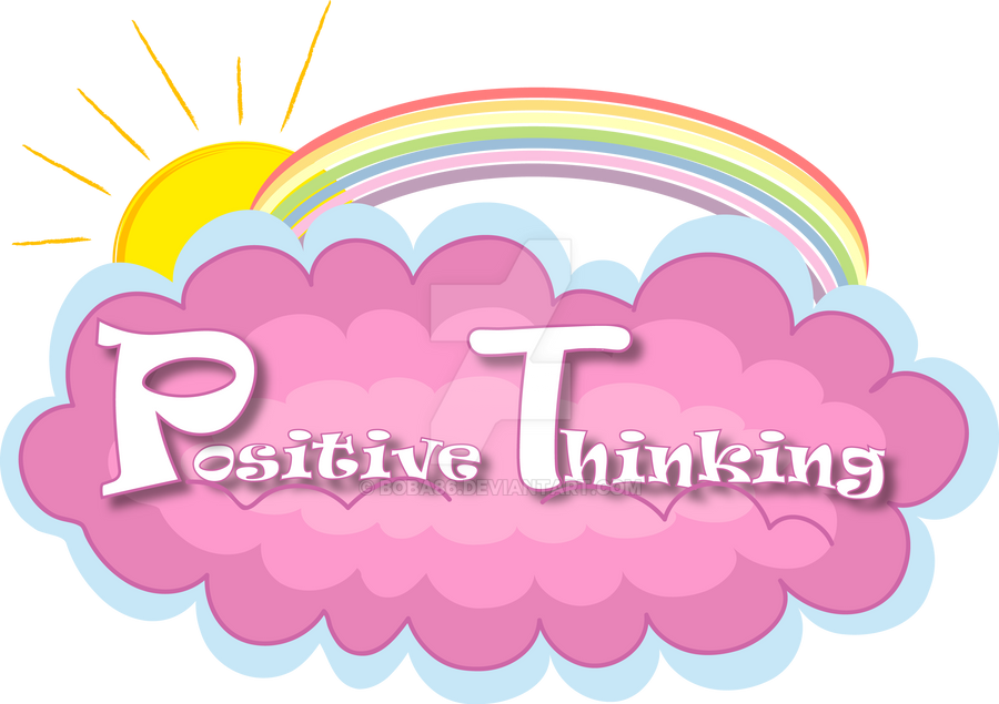 positive thinking logo by boba86