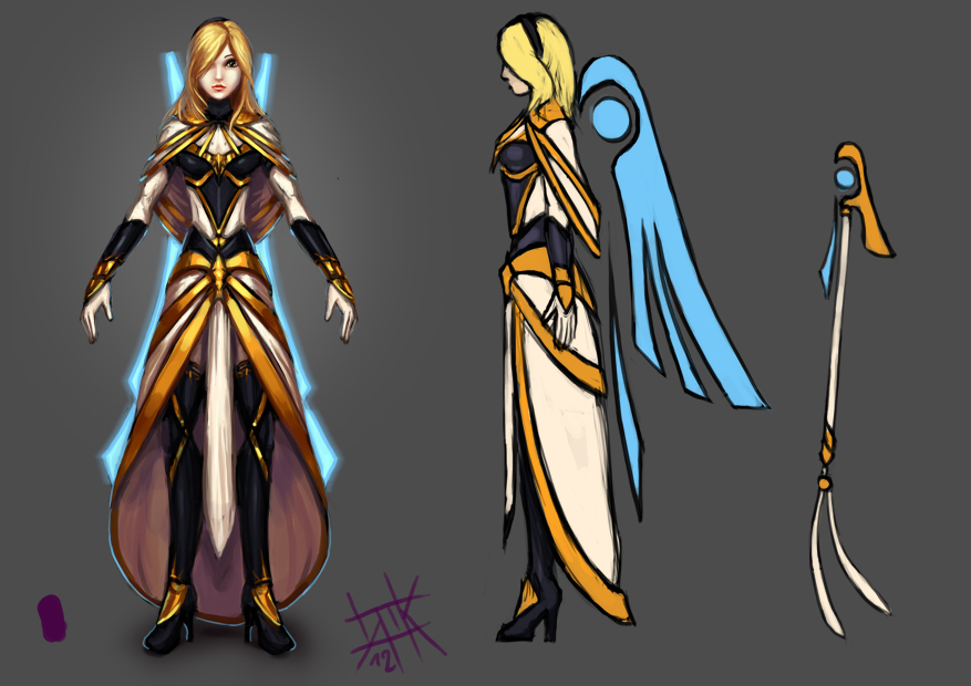 LoL - Avatar of Light Lux WIP by cubehero