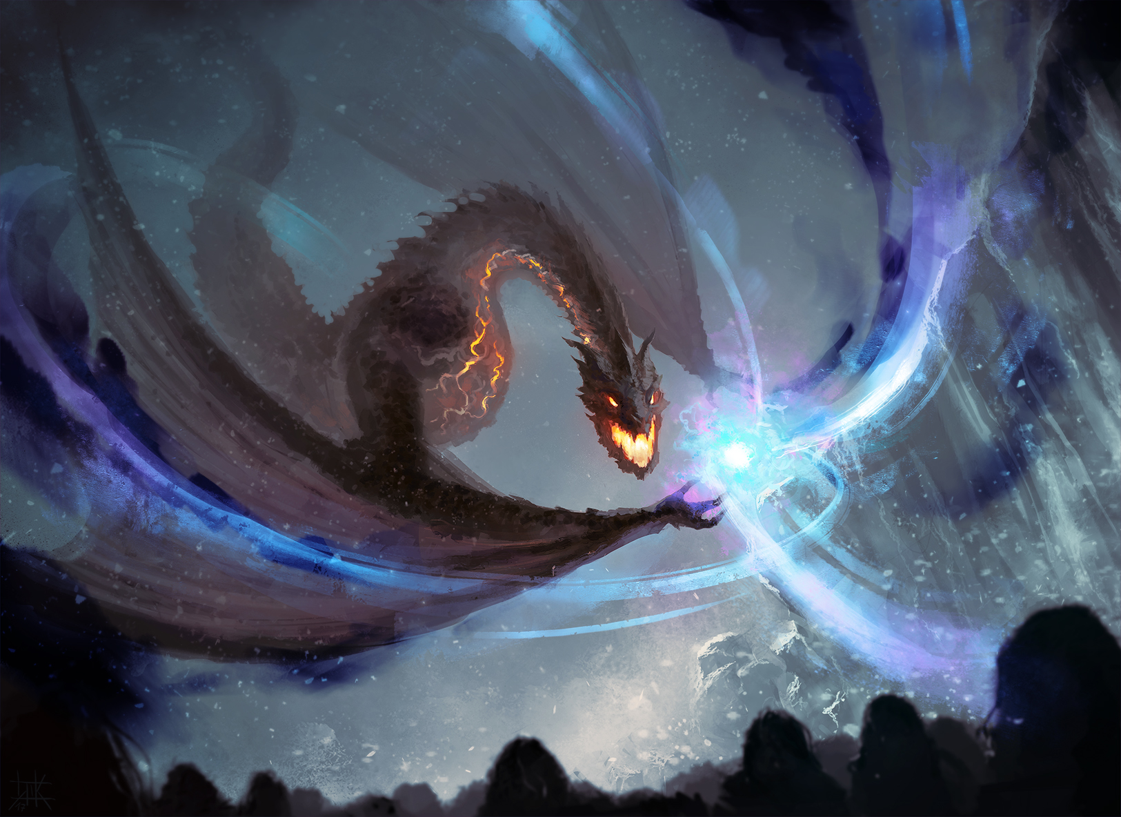 Crossover - Smaug at The Wall by cubehero