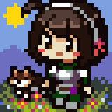 Airi and Chocho Pixel Chibi