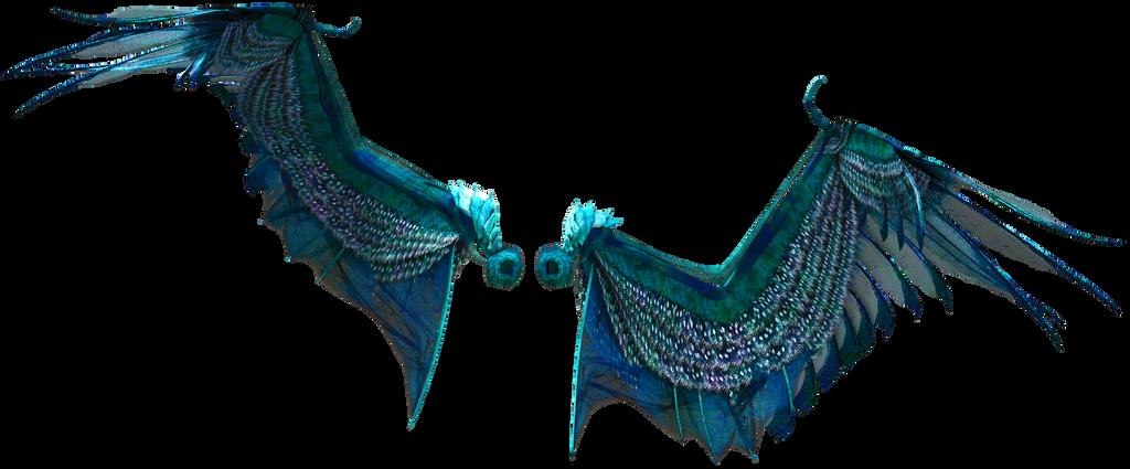 Blue Green Wings by gatterwe