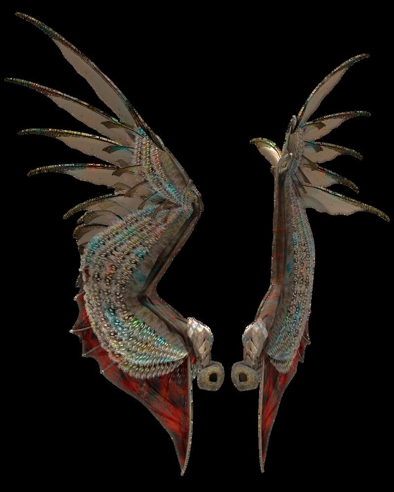 Colorful Dark Wings by gatterwe