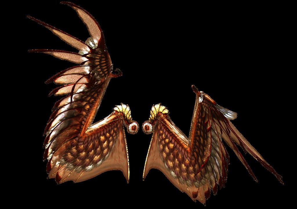 Red Golden Dark Wings by gatterwe