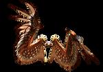 Red Golden Dark Wings