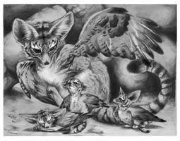 Fennec Tiger Hawks by Blazesnbreezes