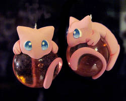 Mew Marble Charms: Eyes Open by Blazesnbreezes