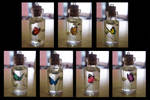 Rainbow Butterfly Bottle Charm Necklaces