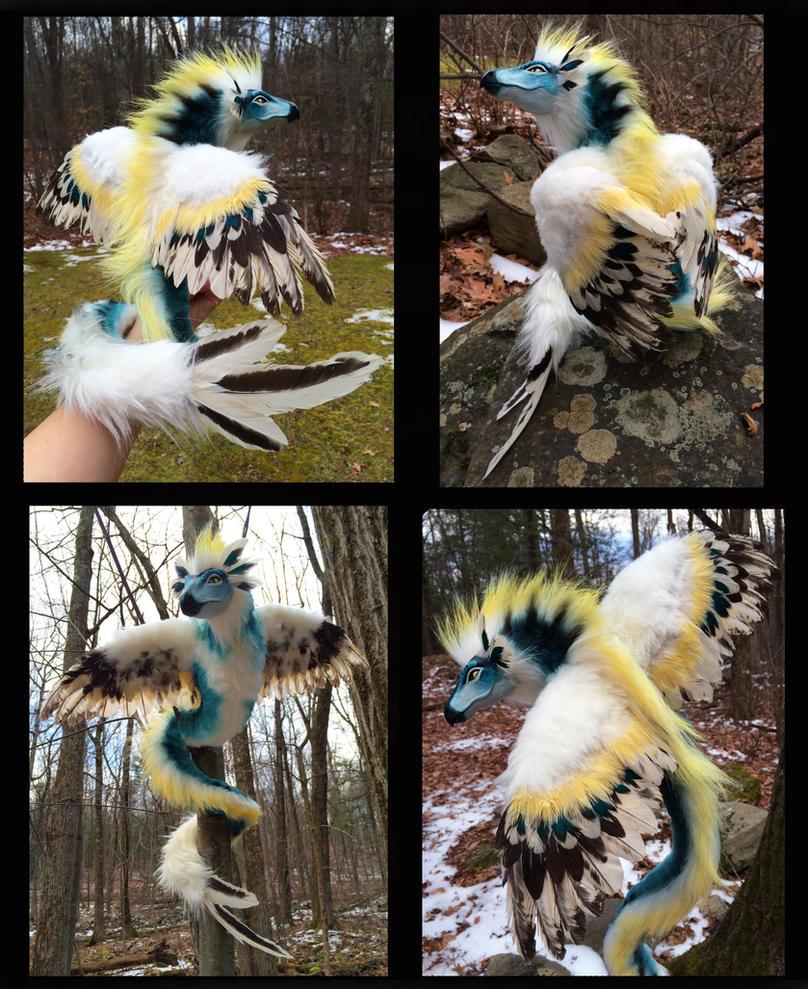 Harpie Dragon Poseable Doll by Blazesnbreezes