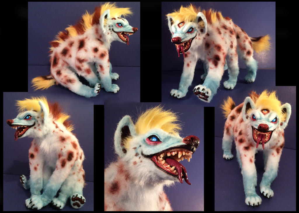 Domino Hyena Posable Art Doll