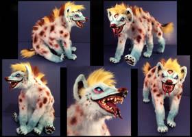 Domino Hyena Posable Art Doll