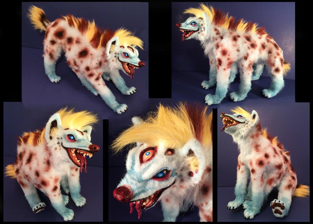Domino Hyena Posable Art Doll by Blazesnbreezes