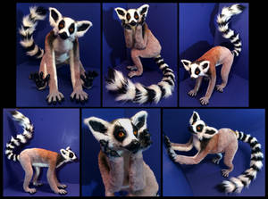 Ring Tailed Lemur Poseable Art Doll