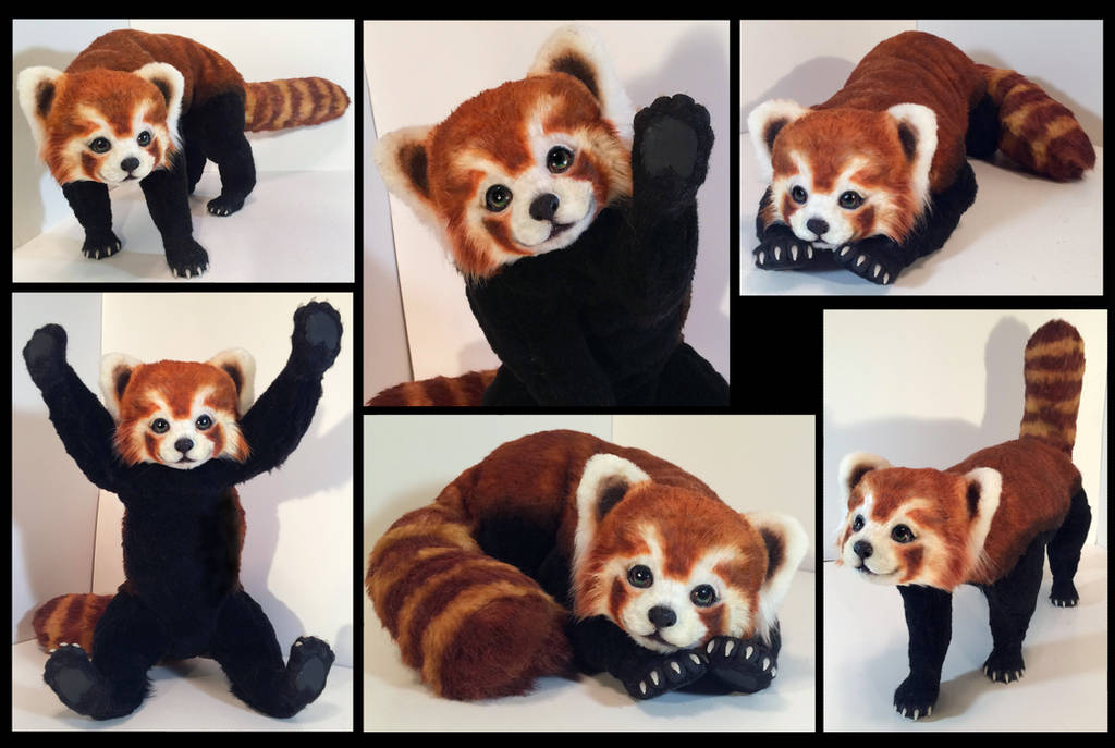 Red Panda Poseable Art Doll by Blazesnbreezes