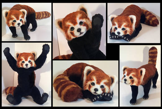 Red Panda Poseable Art Doll