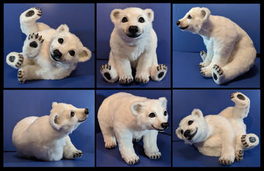 Isbjorn Polar Bear Poseable Art Doll