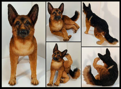 Deja German Shepherd Poseable Art Doll