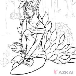 Hyuna Sketch by AzKai