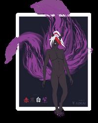 [SOLD] Kitsune Adopt - 001 - Kurayami by AzKai