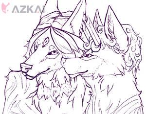 Balto and Ayumu Sketch