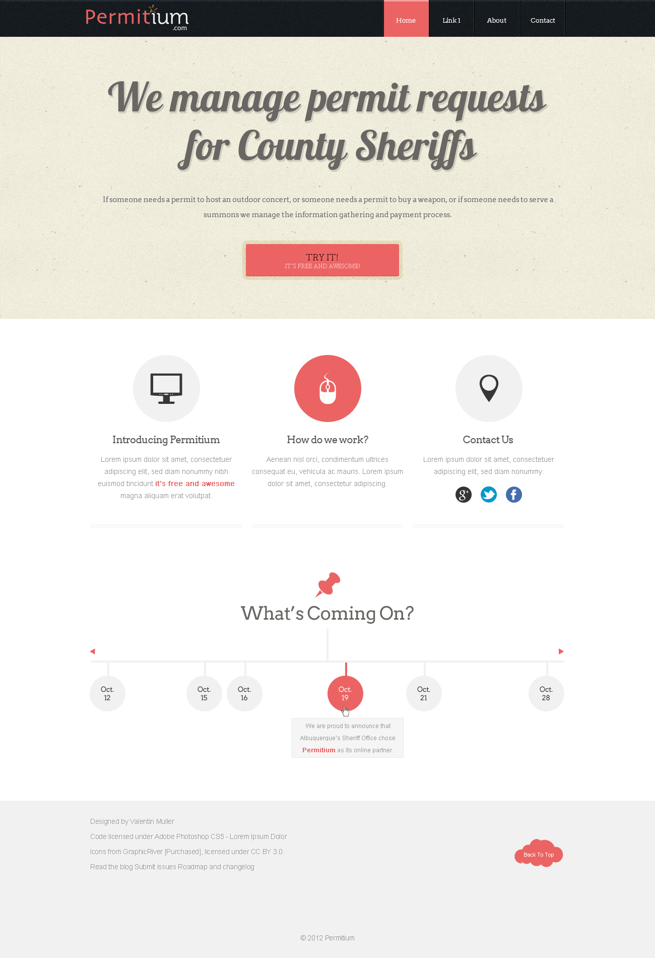 Permitium Website by balentheen