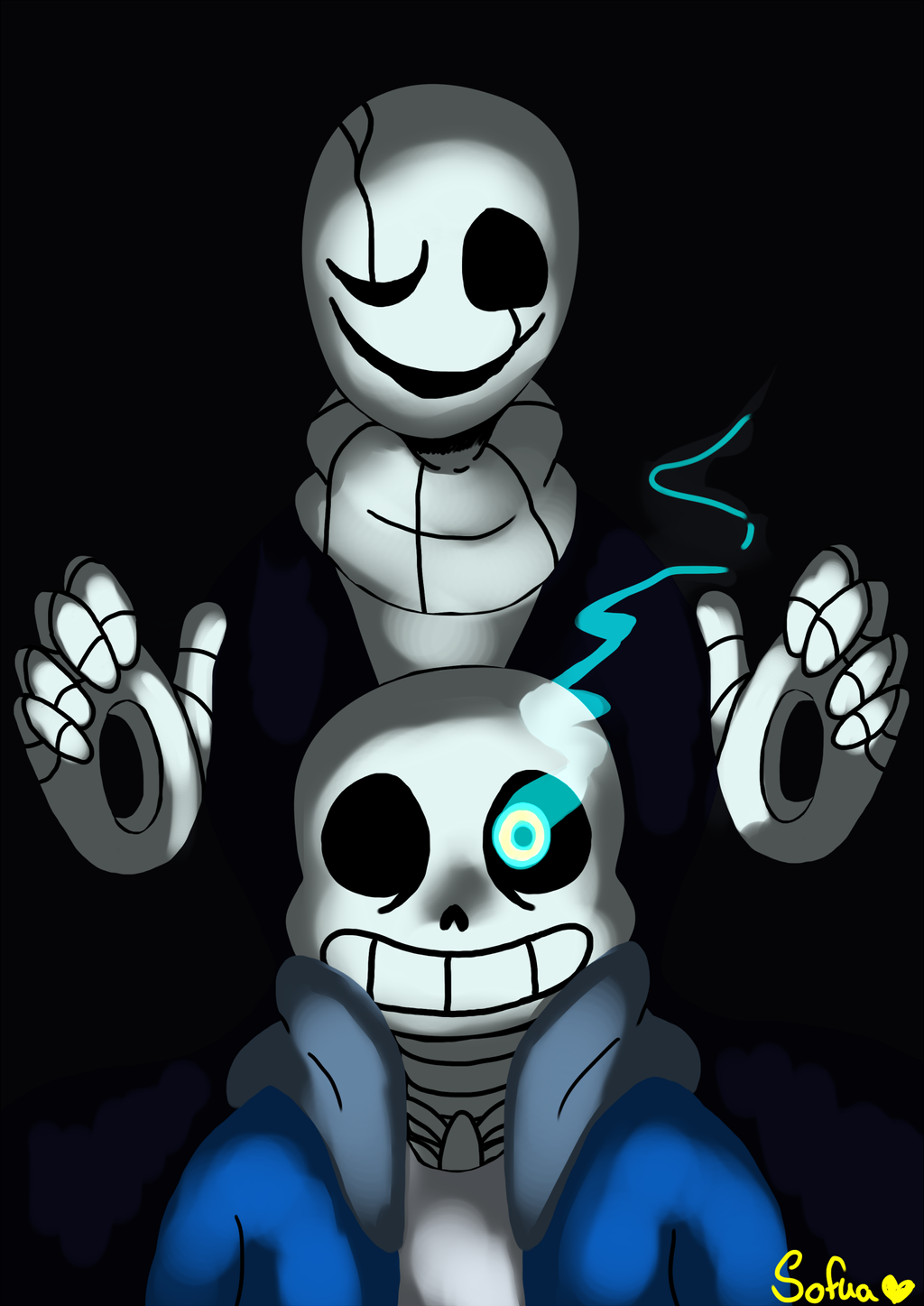 Fanart Sans And Gaster By Sofua On Deviantart