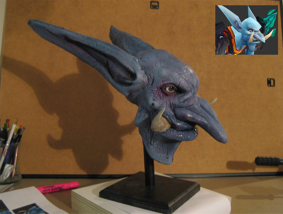 WoW : Troll Unholy Death Knight by SculptorSteve