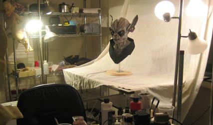 Yoda in the Studio by SculptorSteve