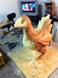Chicken WIP by SculptorSteve