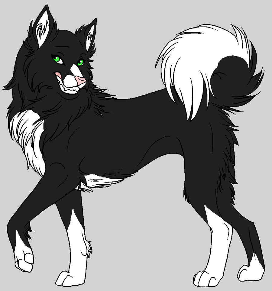 Black And White Female Wolf Anime Pictures to Pin on ...